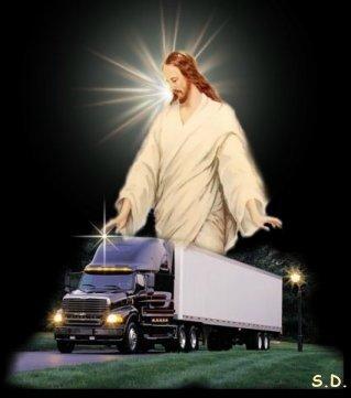 Trucker's Prayer Satin Metal Sign